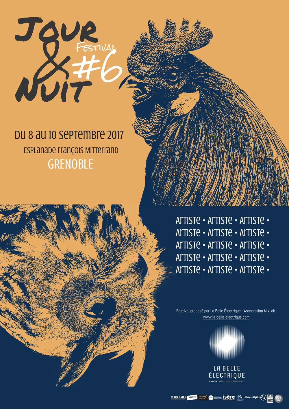 Proposition d'affiche pour le festival Jour&Nuit projet réalisé par Diane Gaillard