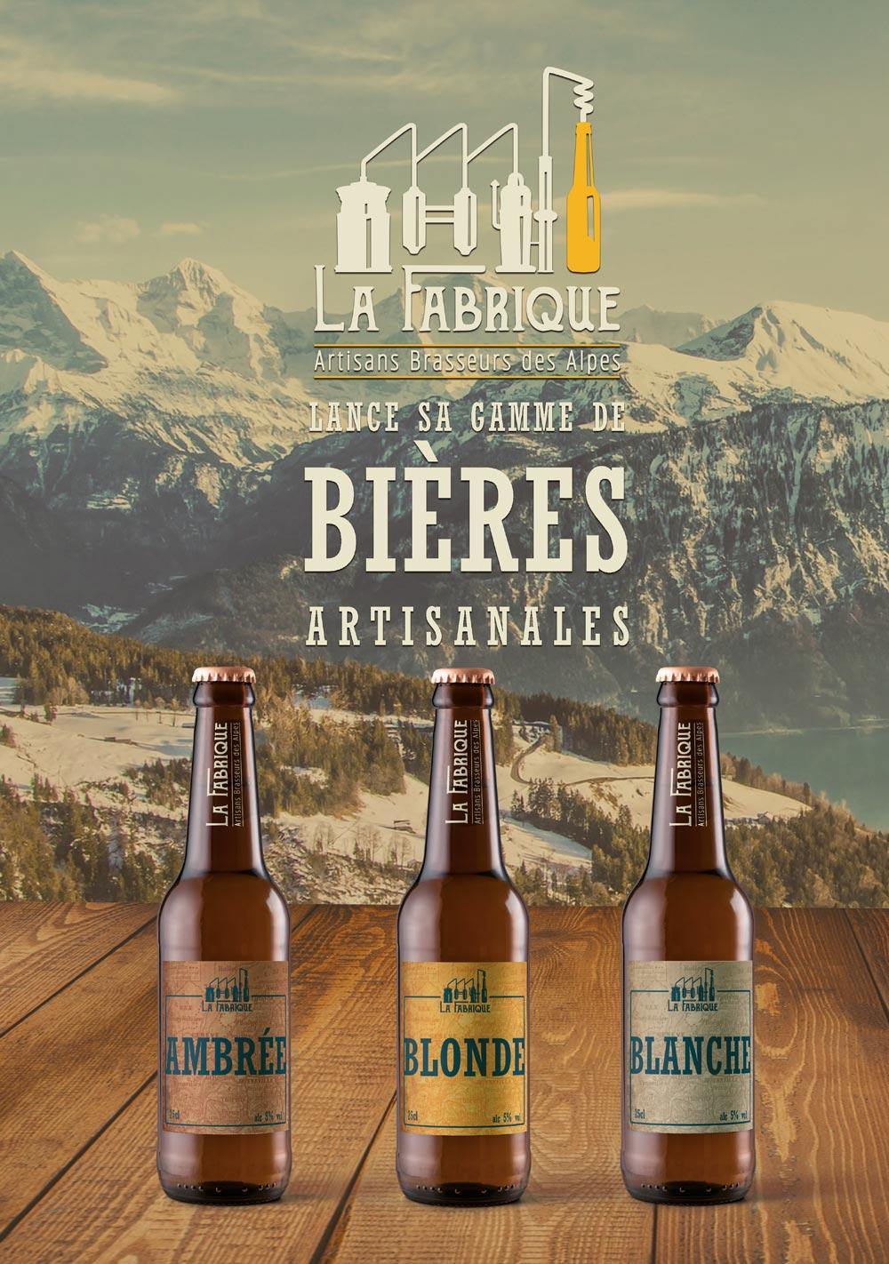 Affiche pour le projet La Fabrique Bières artisanales - Diane Gaillard