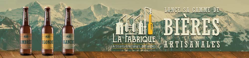 Bandeau publicitaire pour le projet La Fabrique Bières artisanales - Diane Gaillard