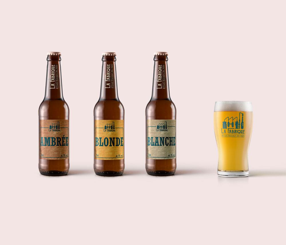 Bouteilles pour le projet La Fabrique Bières artisanales - Diane Gaillard
