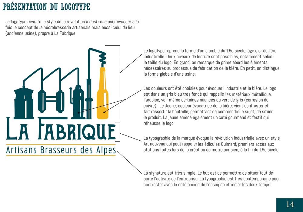 Charte graphique pour le projet La Fabrique Bières artisanales - Diane Gaillard