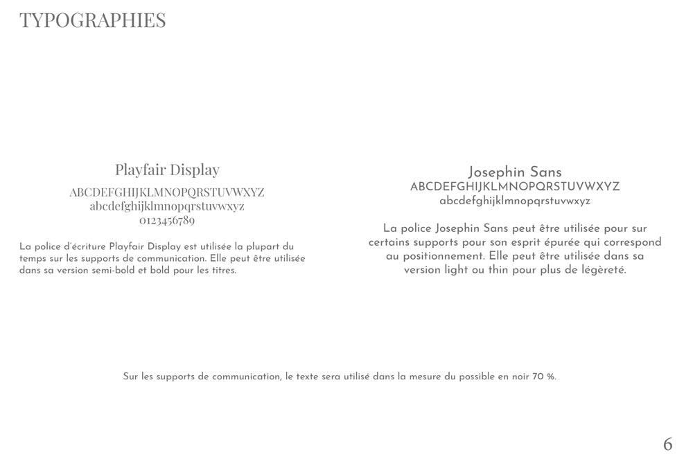 Typographies du projet Chocolat des Alpes dirigé artistiquement par Diane Gaillard