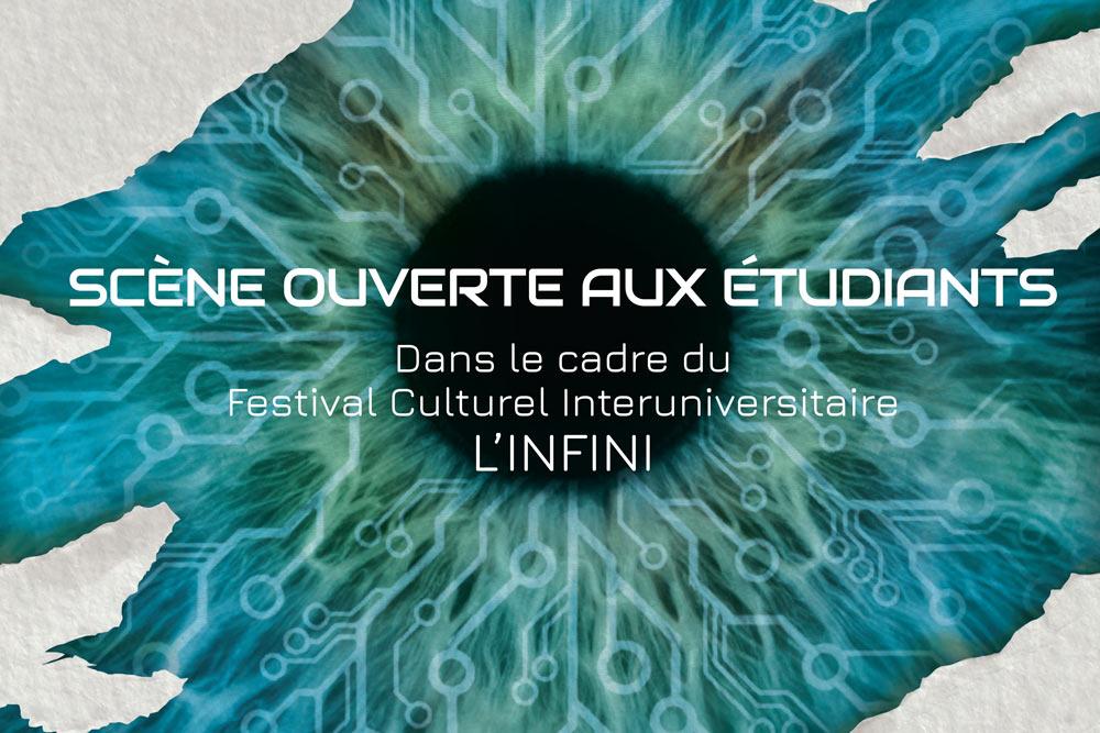 Couverture du projet d'affiche pour le festival L'infini réalisée par Diane Gaillard