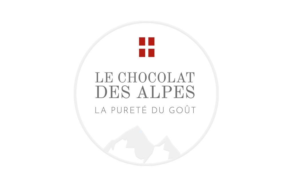 Logo Chocolat des Alpes projet dirigé artistiquement par Diane Gaillard