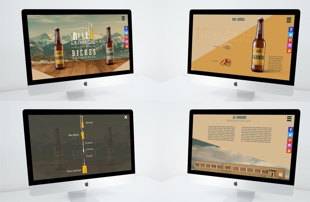 Site web pour le projet La Fabrique Bières artisanales - Diane Gaillard