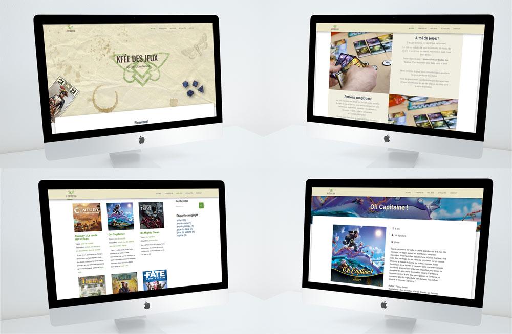 Site web pour le Kfée des jeux réalisé et développé par Diane Gaillard
