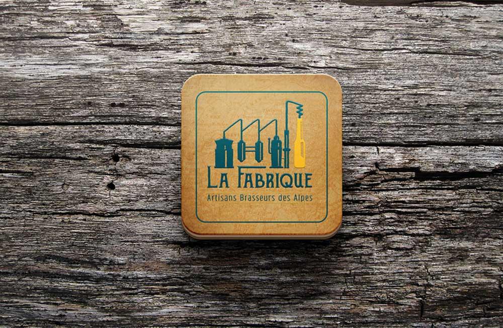 Sous bock pour le projet La Fabrique Bières artisanales - Diane Gaillard
