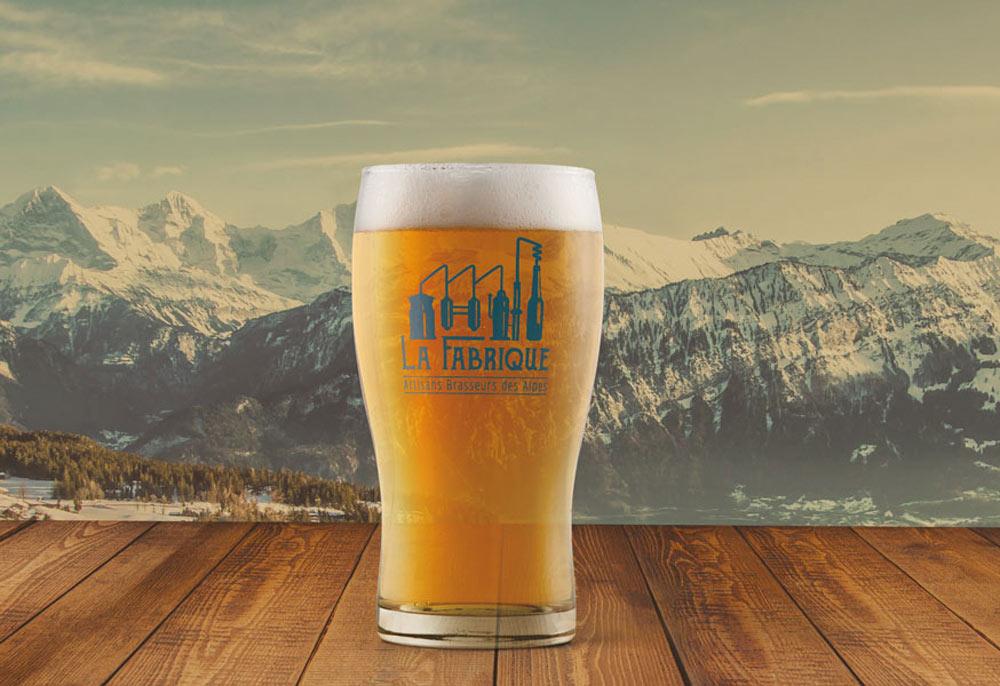 Verre de bière pour le projet La Fabrique Bières artisanales - Diane Gaillard