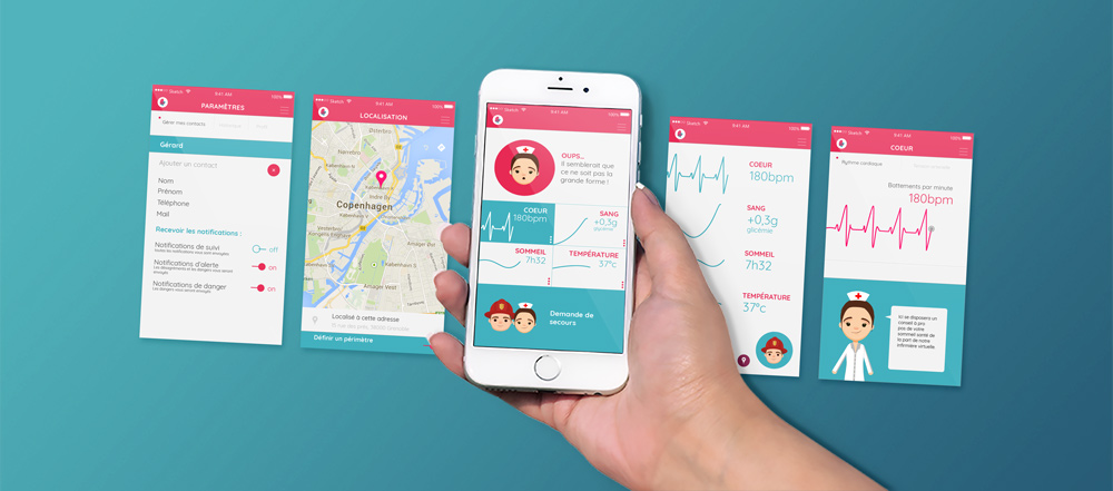 Application Mediveil Design d'interface UI - Graphiste Diane Gaillard