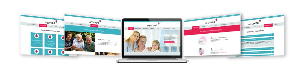 Interface site internet - Diane Gaillard web designer